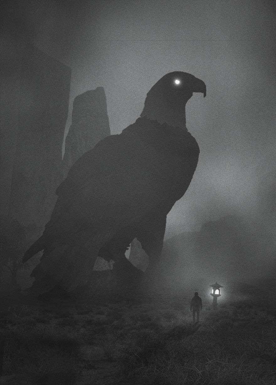 Giant Falcon - Dark Paintings