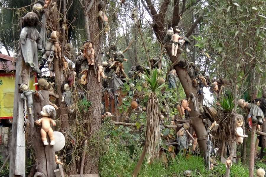 mexico island of the dead dolls - abandoned cities