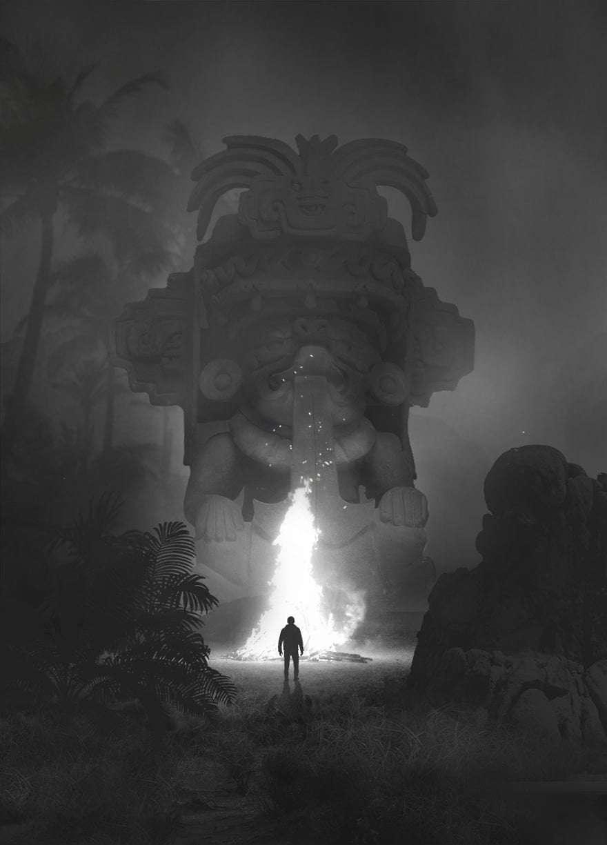 Giant Elephant - Dark Paintings
