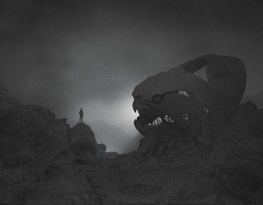 Unseen landscape - Dark Paintings