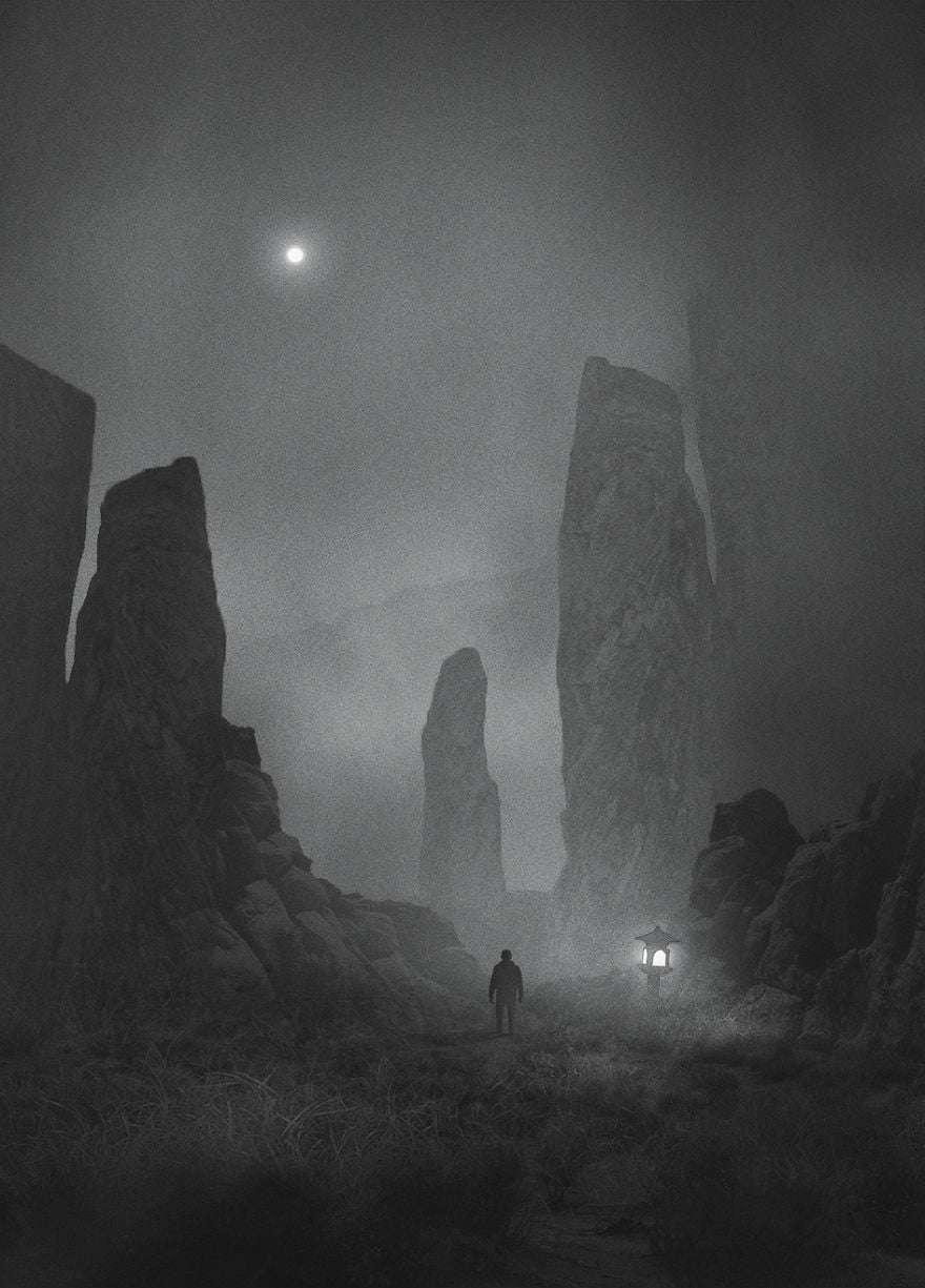 Giant Valley - Dark Paintings
