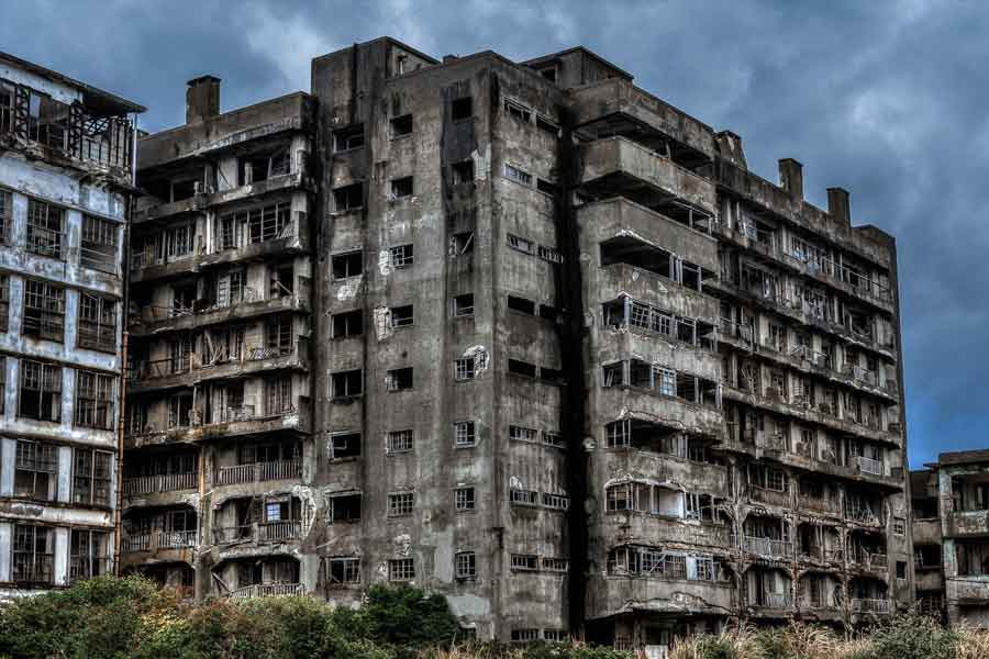 nagasaki hashima island - abandoned cities