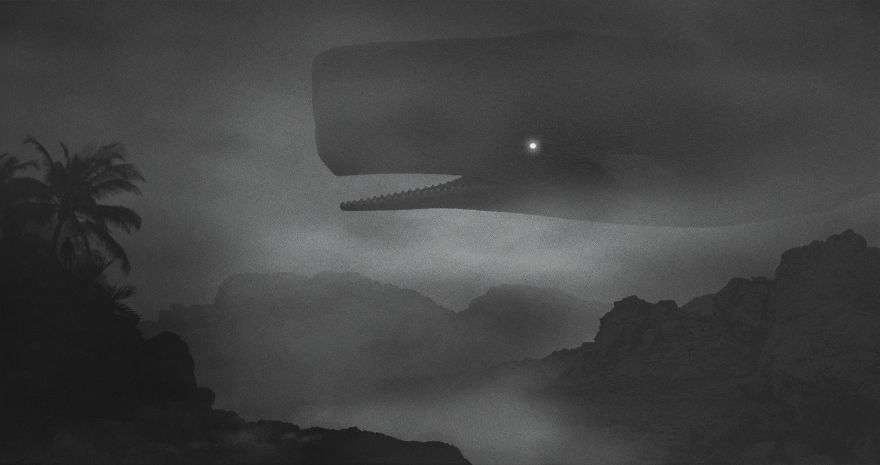 Giant Whale - Dark Paintings