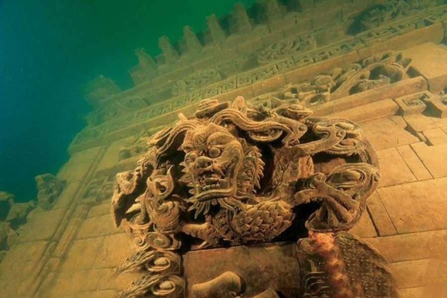 shi cheng underwater city - abandoned cities