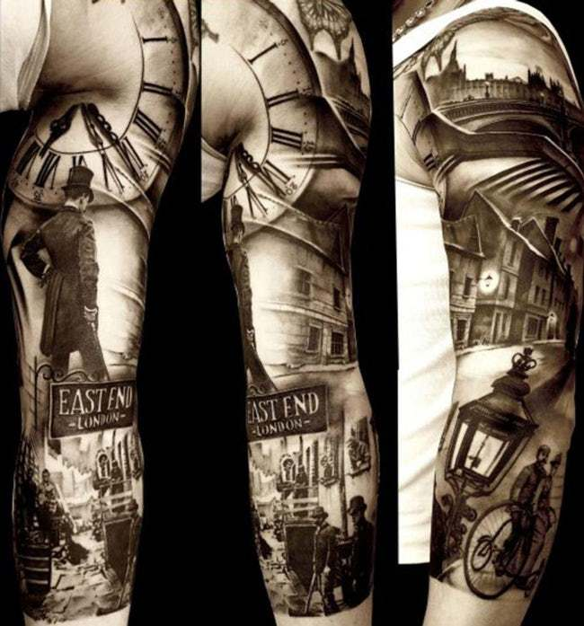 Back in time hyperrealistic tattoos