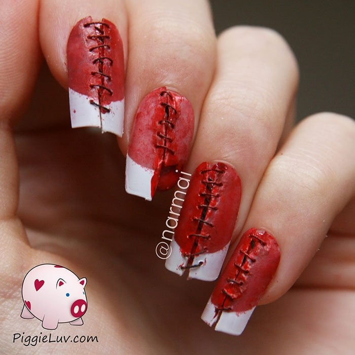 20 horrific nail art to inspire fear around you well dressed wounds prinsesfo Choice Image