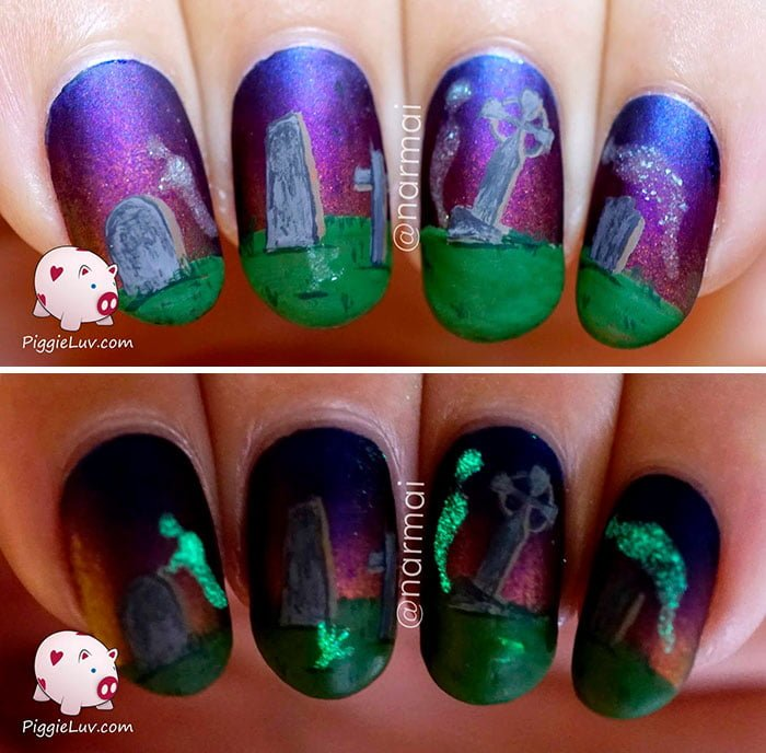 20 horrific nail art to inspire fear around you the freaks come out at night prinsesfo Gallery