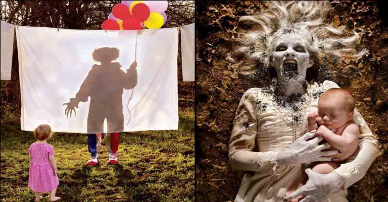 10+ Horror Photos By Photographer Dad Featuring Own Daughters