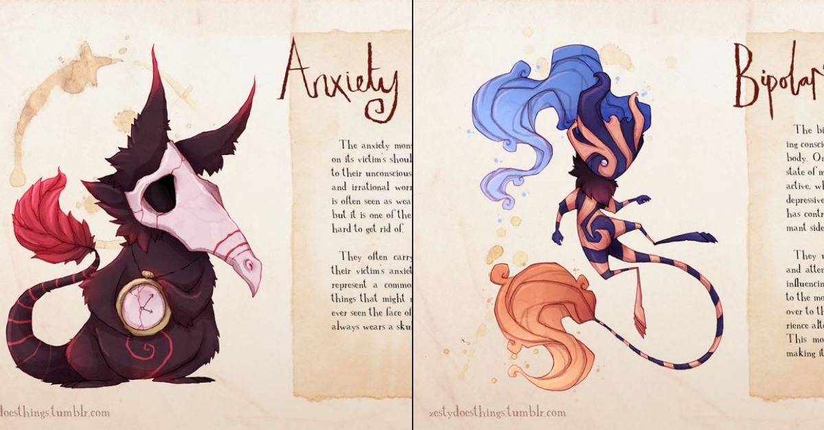 10 Haunting Illustrations Of Mental Illnesses And Disorders