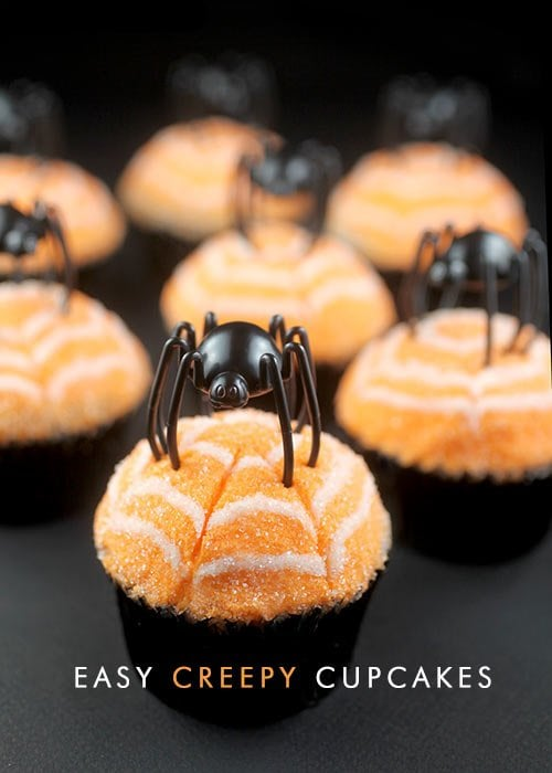 Easy Spiderweb Cupcakes