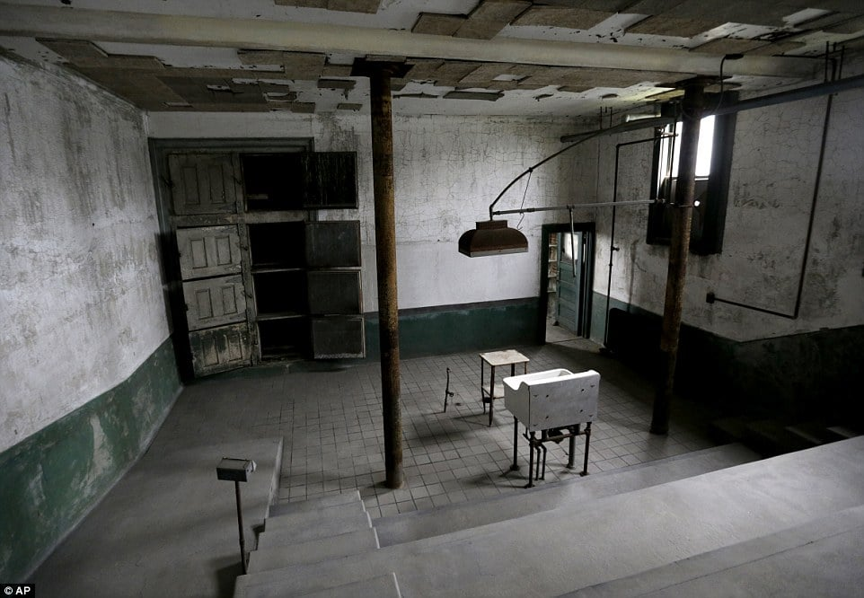 The morgue inside of the hospital
