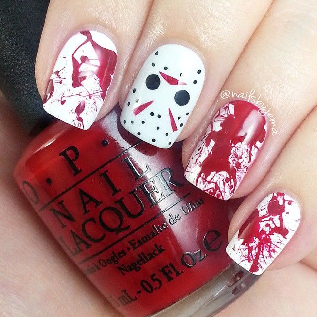 creepy halloween nail art