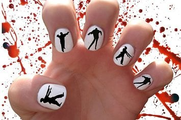 100 halloween nail art design ideas just for you zombie decals prinsesfo Gallery