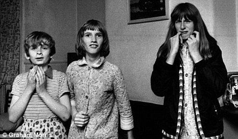 Janet (middle), Margaret on the right, and Johnny on the left