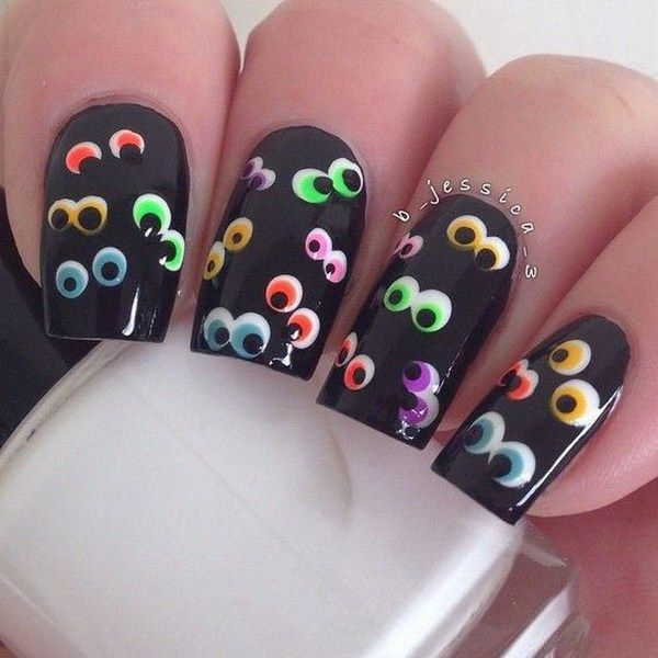 creative nails art for halloween 2017