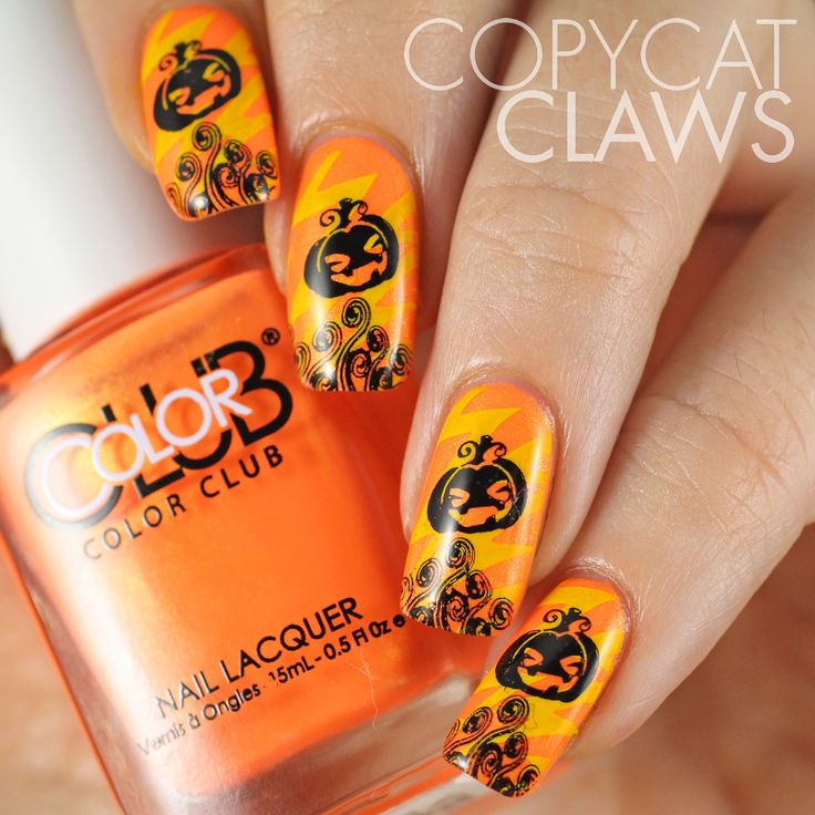 100 halloween nail art design ideas just for you diy nail art prinsesfo Images
