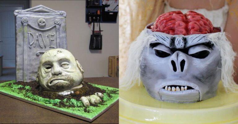 Easy To Make Creepy Halloween Cakes with Recipes