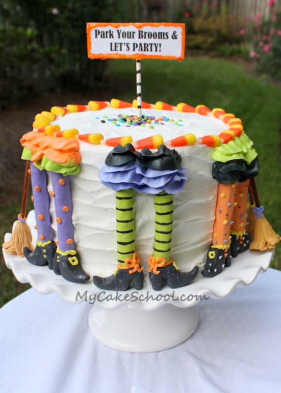witch cake - Simple Halloween Cake Decorating Ideas