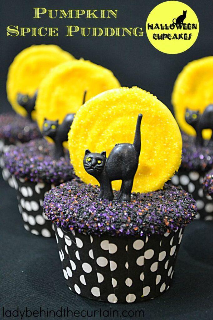 Pumpkin Spice Pudding Cupcakes