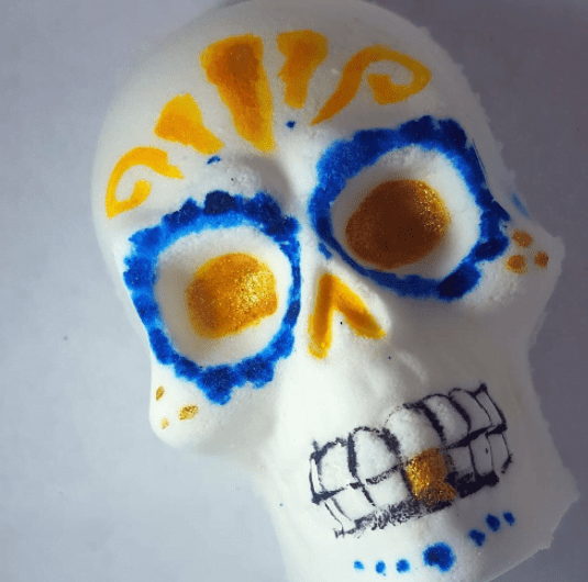 Day of the Dead bath bomb