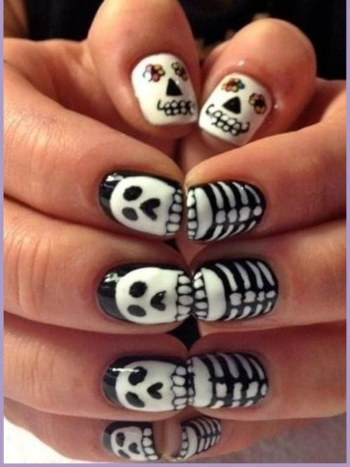 100 halloween nail art design ideas just for you nail art for halloween prinsesfo Images