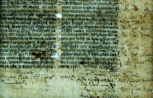 Hidden Text in England's Oldest Bible