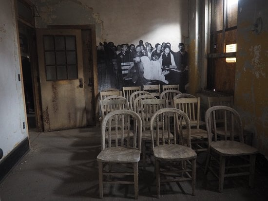A room where immigrants used to sit and wait to be examined