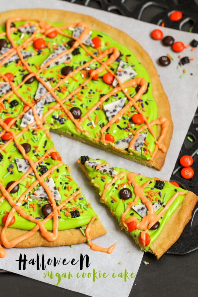 halloween sugar cookie cake - Easy To Make Halloween Cakes