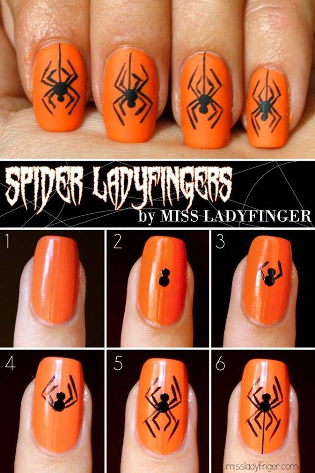 100 halloween nail art design ideas just for you scary halloween nail art prinsesfo Choice Image