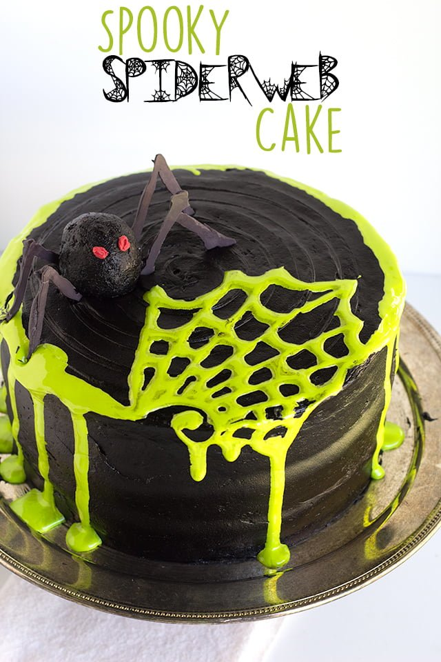 Creepy Spiderweb Cake