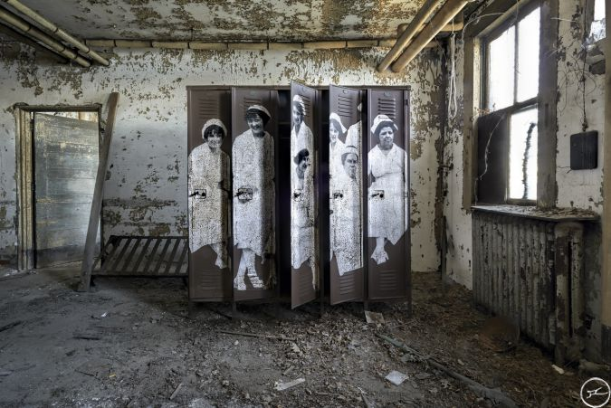 Old lockers for the nurses
