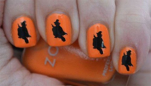 creepy Nail art for Halloween