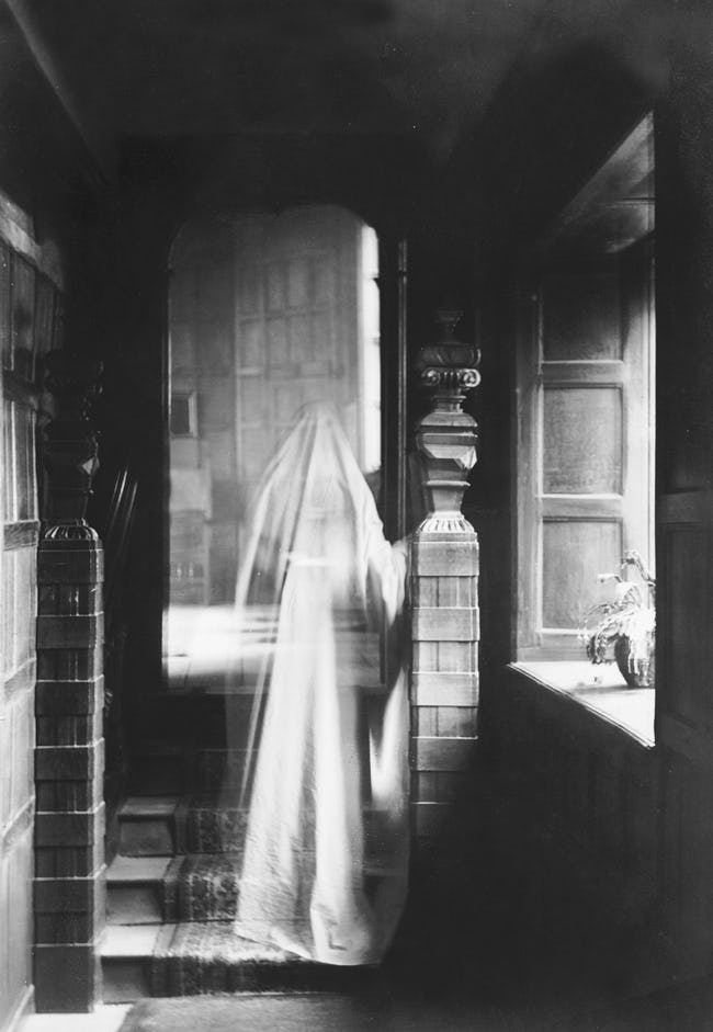 A Spectral Nun In Blue Haunts Copley Library