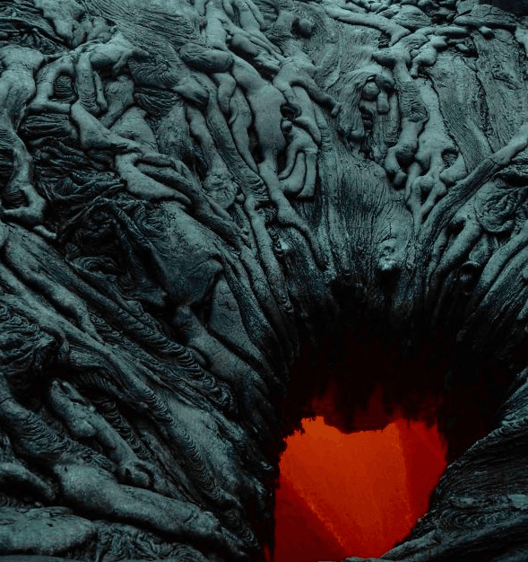 Lava Pit That Looks Like Bodies Falling Into Hell
