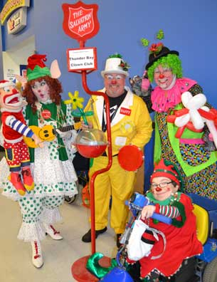 Members from the Thunder Bay Clown Club