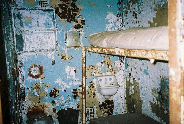State of the cells where people once lived
