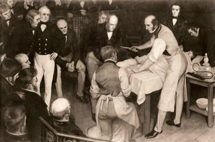 pioneering Scottish surgeon Robert Liston