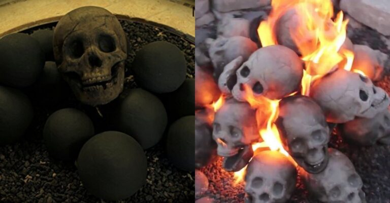 These Spooky Skull Shaped Logs Will Just Light Up Your Fire Place This Halloween