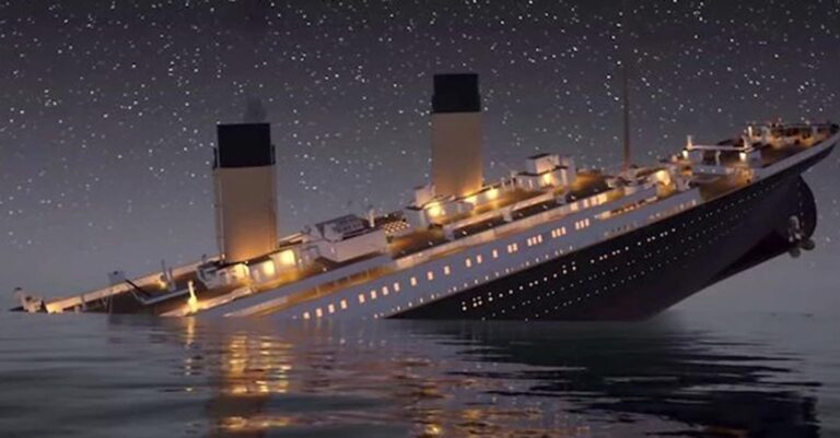 Horrifying Video Surfaces Previewing The Sinking Of The Titanic In Real-Time