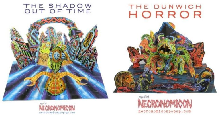 If You Like Creepy Art, You Will Definitely Enjoy This Necronomicon Pop Up Book