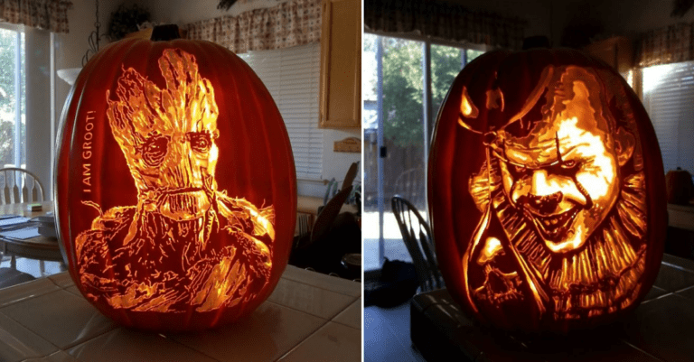 10+ Incredibly Carved Pumpkin Portraits Of Famous Pop Culture Characters
