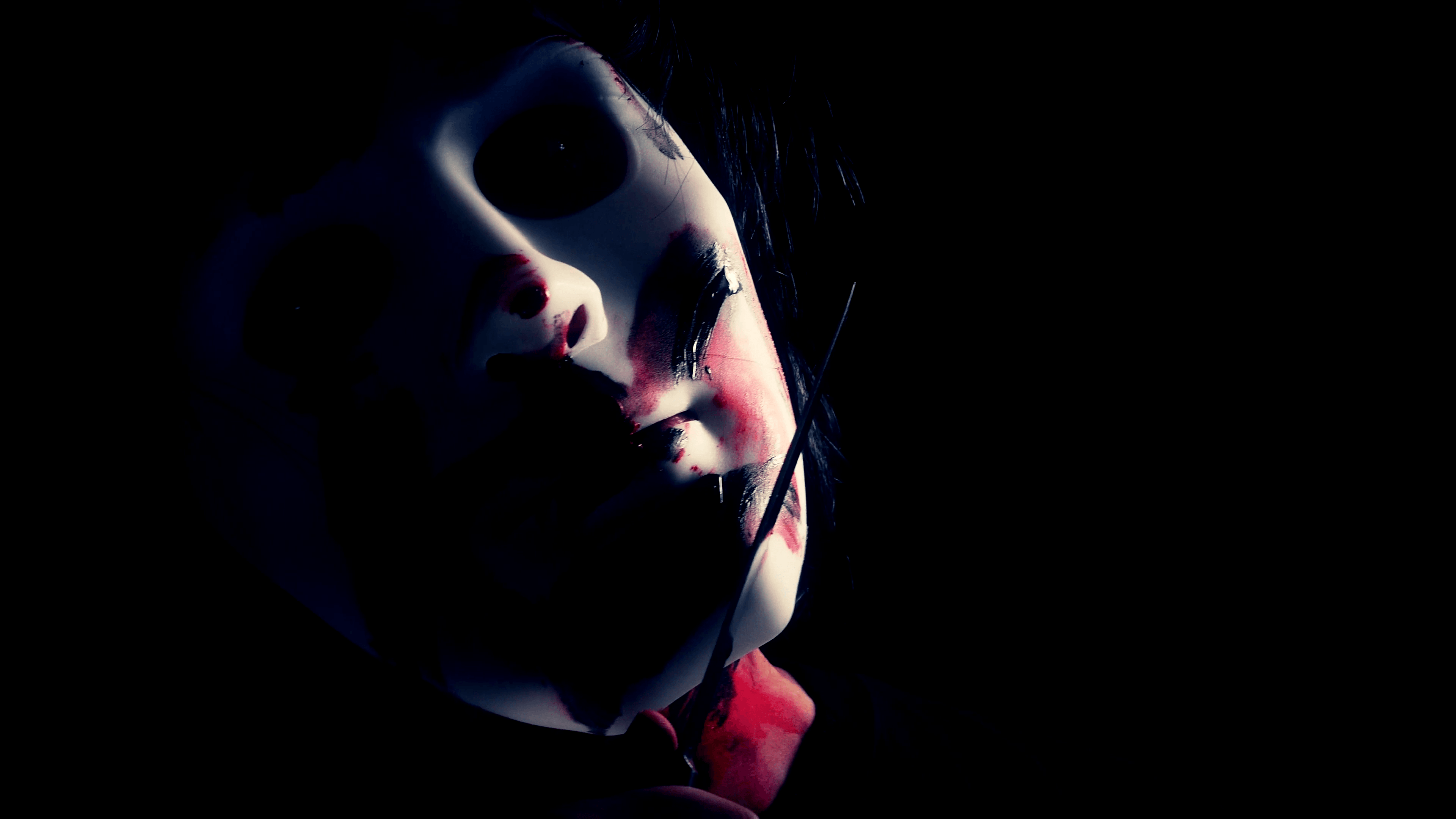 The bloody mask