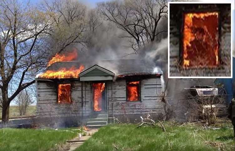 Fireman Captures Ghost in Burning House