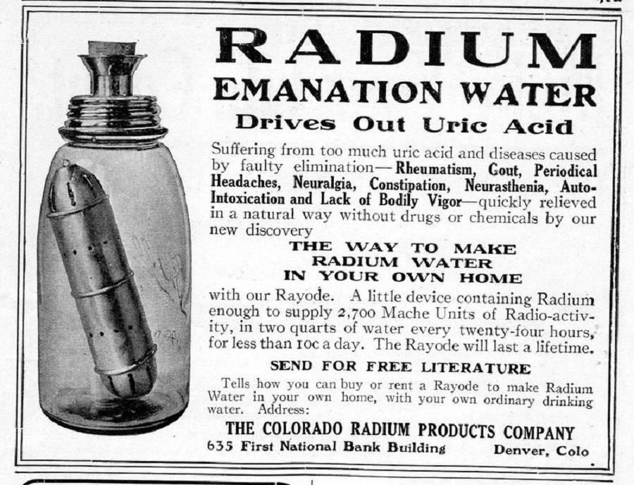 radium-water