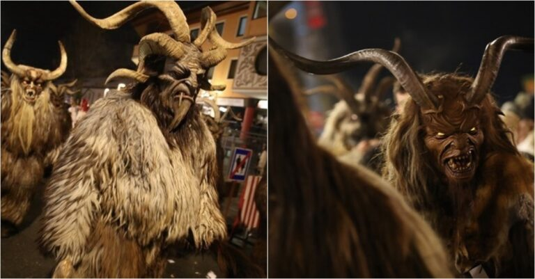 10 Thrilling Photos From The Annual Krampus Parade