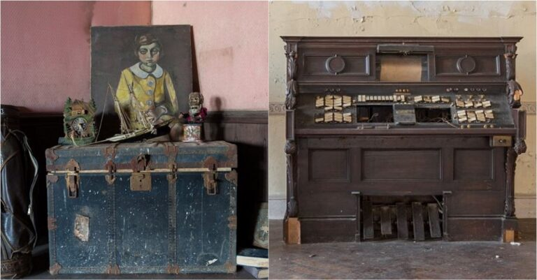 Photographer Captures Eerie Shots Of Creepy New York Mansion That's Been Abandoned For Nearly 50 Years