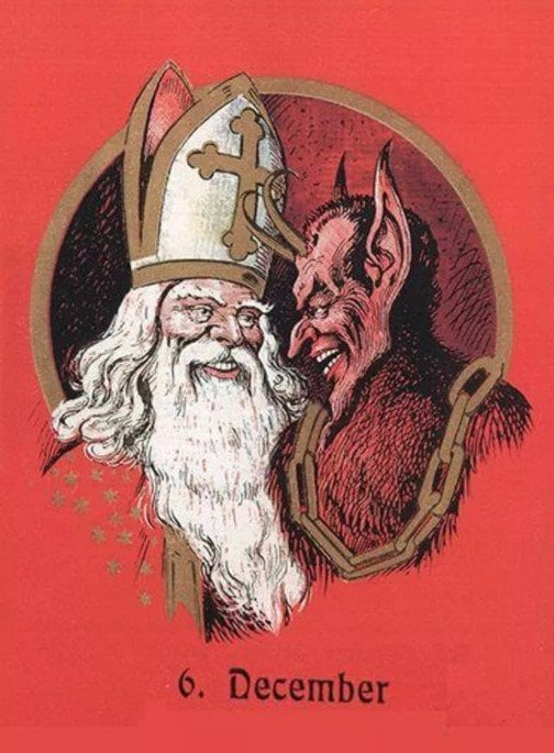 Santa and Krampus are actually good friends