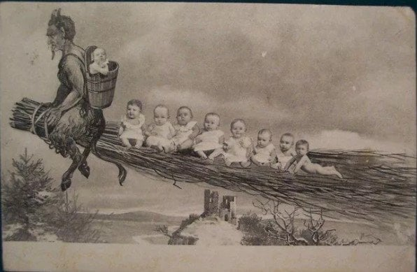Krampus doesn't even spare babies