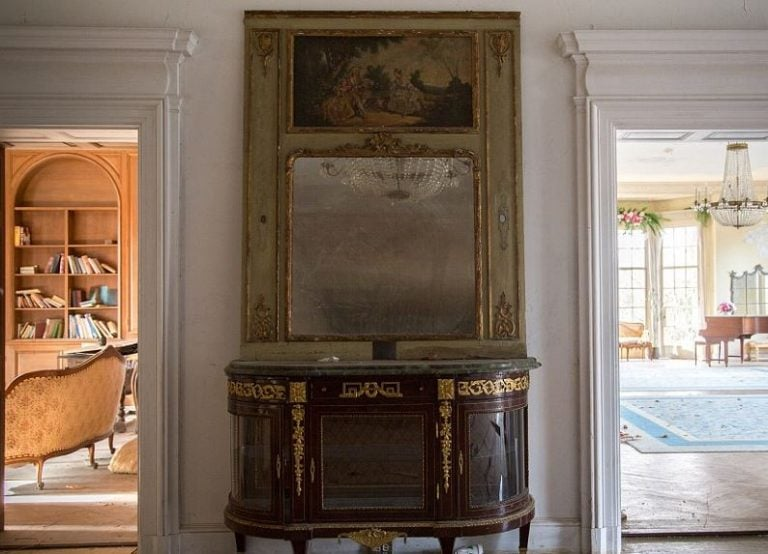 In the grand hallway stood this elegant cabinet