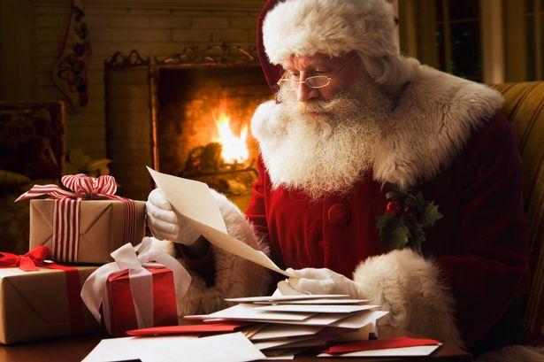 Santa touches me